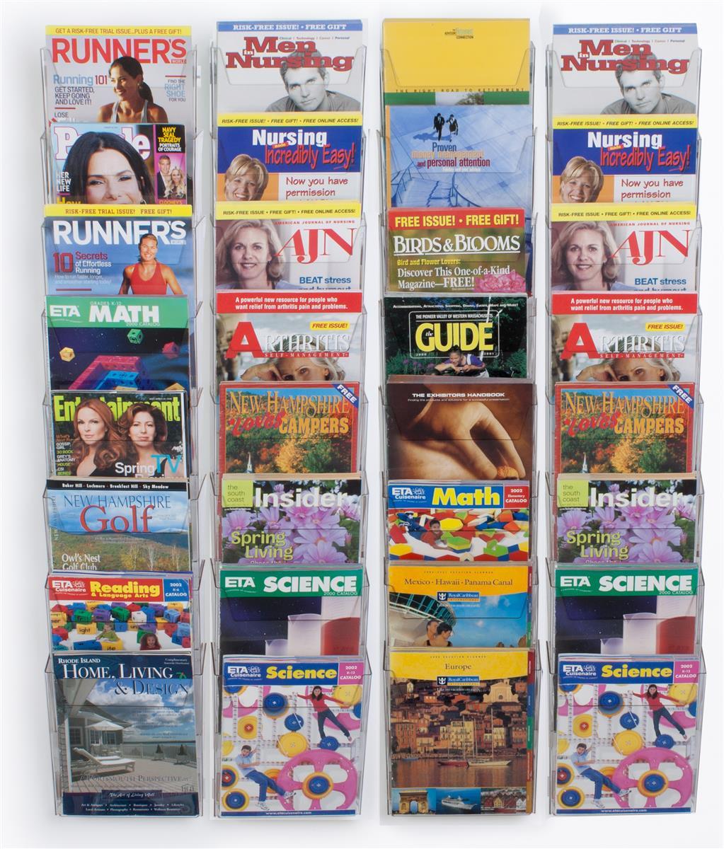 Displays2go Workshop Series 32-Pocket Magazine Rack for W...