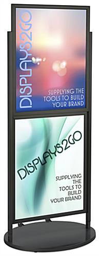 Black Dual 22 x 28 Mobile Poster Display, Wheeled