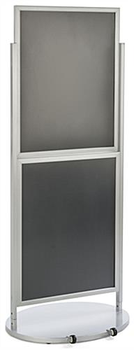 Silver Dual 22 x 28 Mobile Poster Display, Holds 4 Posters