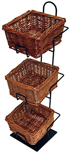 Wicker Basket Counter Display