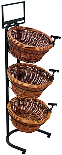 3 Tier Basket Stand of Wicker