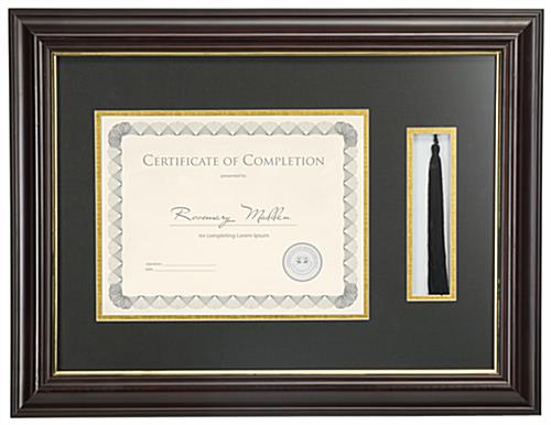 "11"" x 8.5"" Tassel and Diploma Frame for Wall Mounting"