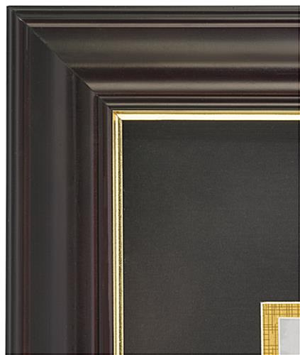 Dual Vertical Diploma Frame is Decorative
