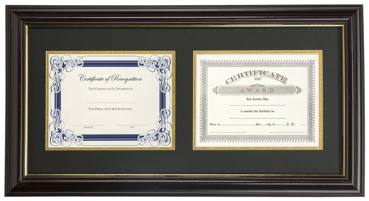 Dual Vertical Diploma Frame 2 8 5 X 11 Certificates