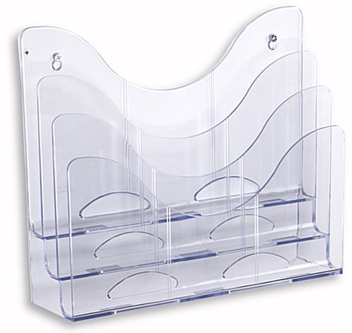 Plastic Wall File Organizer 3 Built In Pockets For Wall