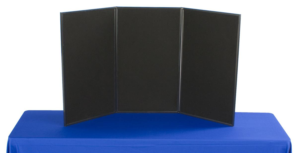 Trade Show Booth Options : Exhibition display boards grey fabric double sided