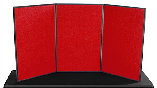 Tabletop Panel Display Double Sided Hook Amp Loop Fabric