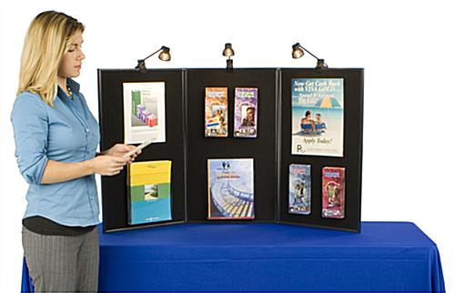 Exhibition Display Board: Includes 3 Halogen Spotlights