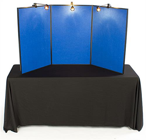Presentation Board: Includes 3 Halogen Spotlights