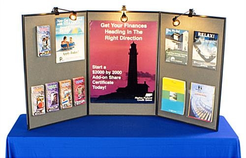 Exhibition Displays Include (3) Halogen Spotlights For Bright Showcases