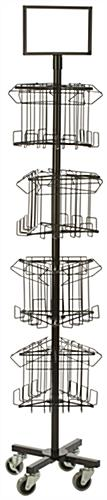 Wire Freestanding Literature Carousel