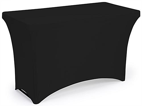 Stretch table cloth with polyester construction