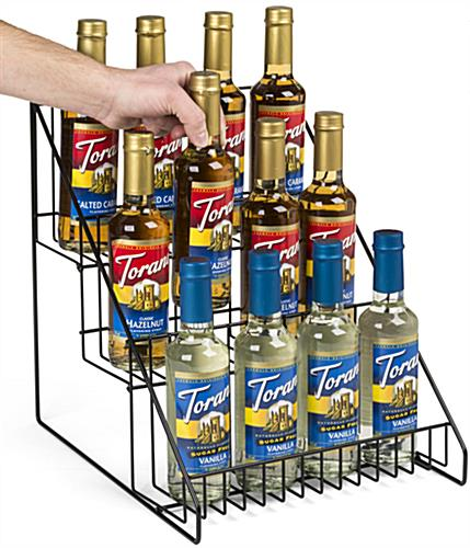3 Tier Wire Countertop Rack, Angled View