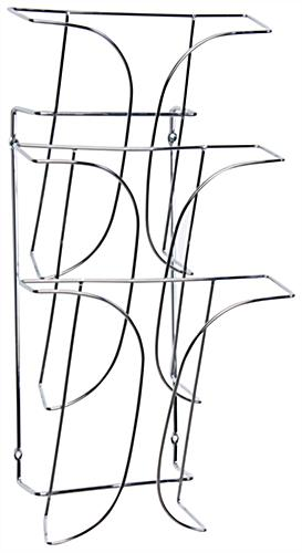Wall 3-Tier Magazine Rack