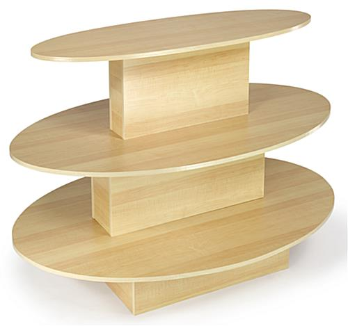 Store Displays Maple Oval Merchandising Table