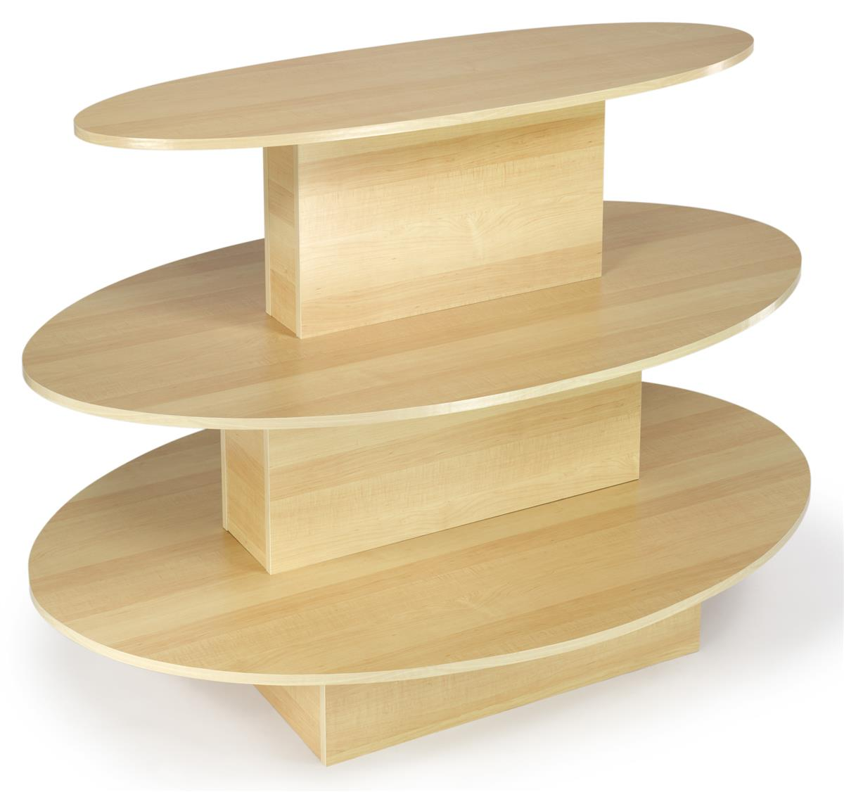 Table Stores: Maple Oval Merchandising Table
