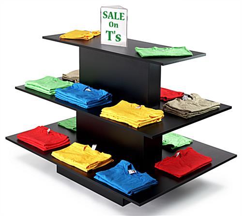 Black Retail Display Table Black Retail Display Table