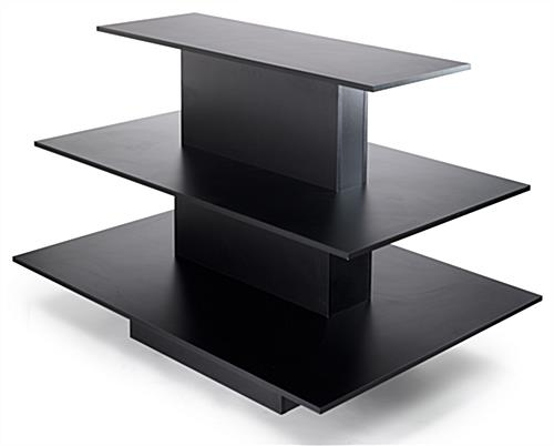 black retail display table