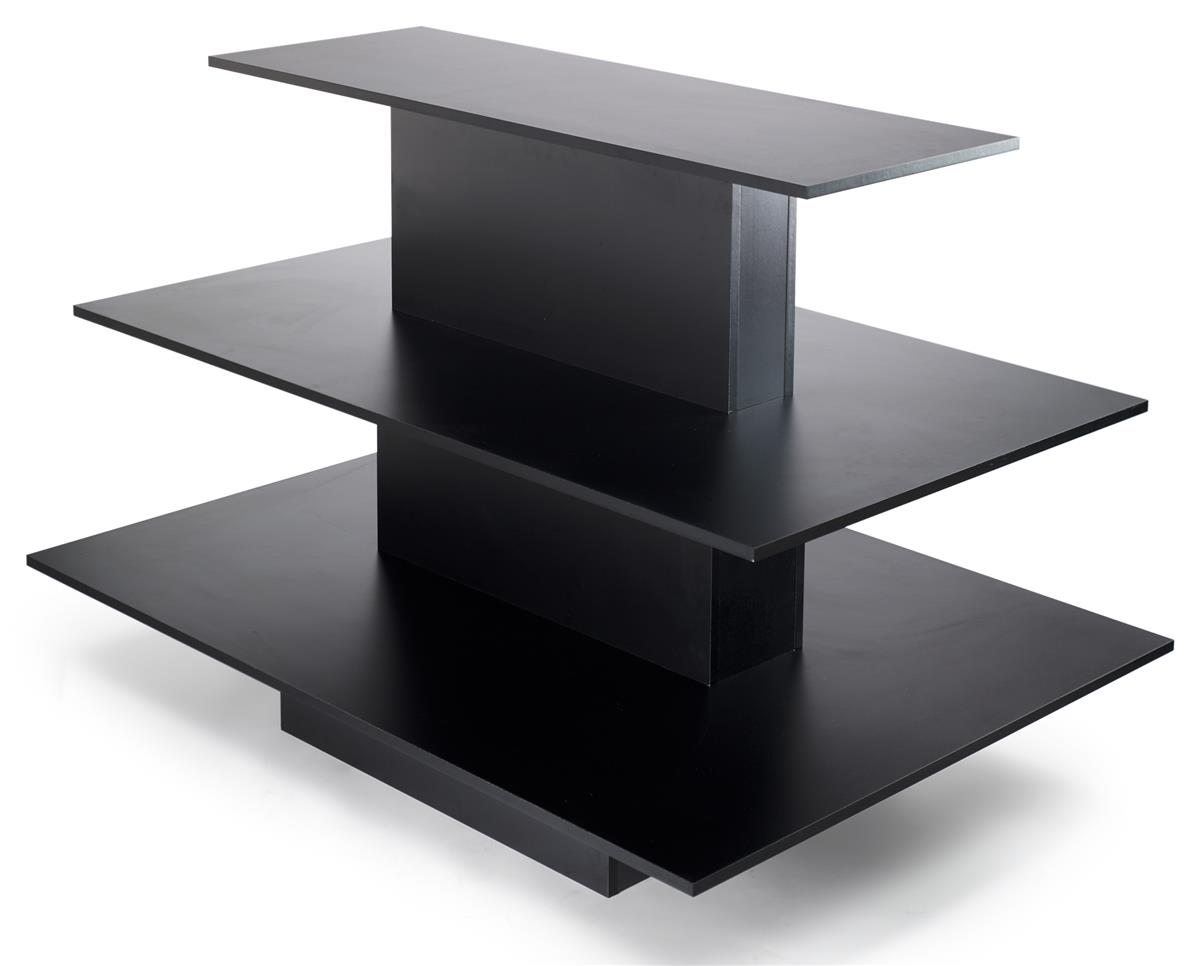 Retail Display Table In Black With 3 Individual Levels