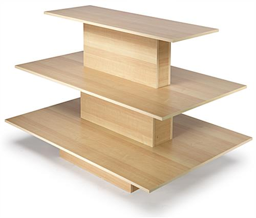 Retail Table Display Tiered Maple Design