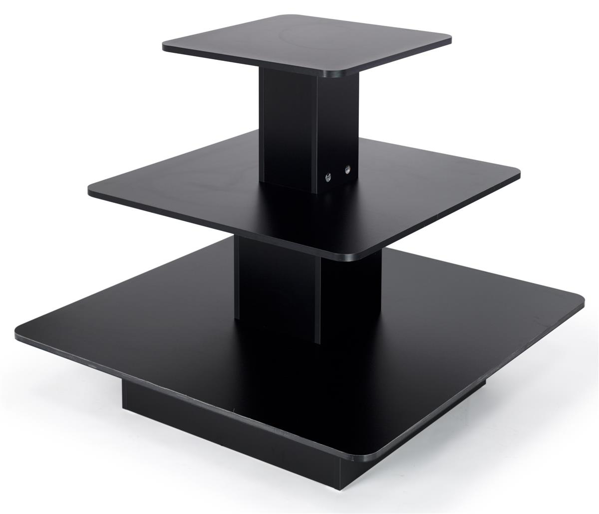 Tiered display bases square