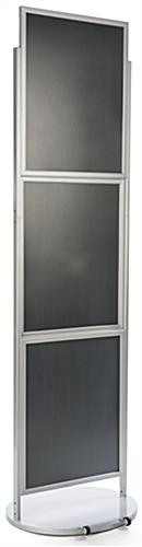 Silver Triple 22 x 28 Mobile graphic Display with Anti Glare Lens
