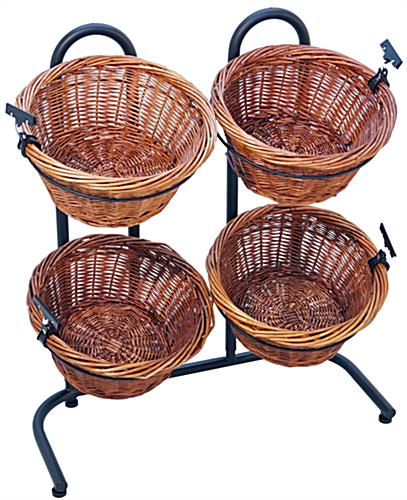 Black Basket Display Rack