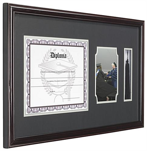 Diploma Frames With Tassel Holder Dark Brown Border