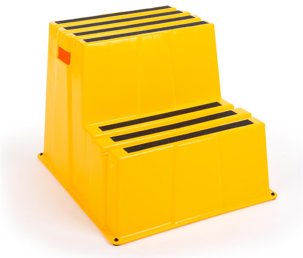 Miraculous 20H Step Stool 2 Tiers 500 Lb Capacity Yellow Evergreenethics Interior Chair Design Evergreenethicsorg