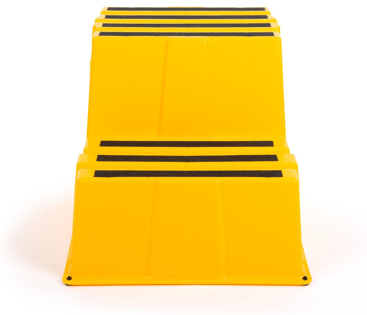 Stupendous Industrial Step Stand 20 Tall 2 Tier Yellow Plastic Evergreenethics Interior Chair Design Evergreenethicsorg