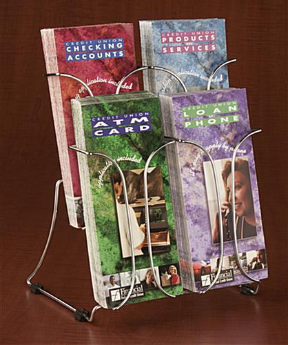 Brochure Storage Rack With Four Pockets