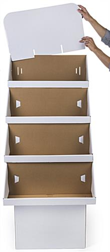 4-Tiered Retail Cardboard Stand