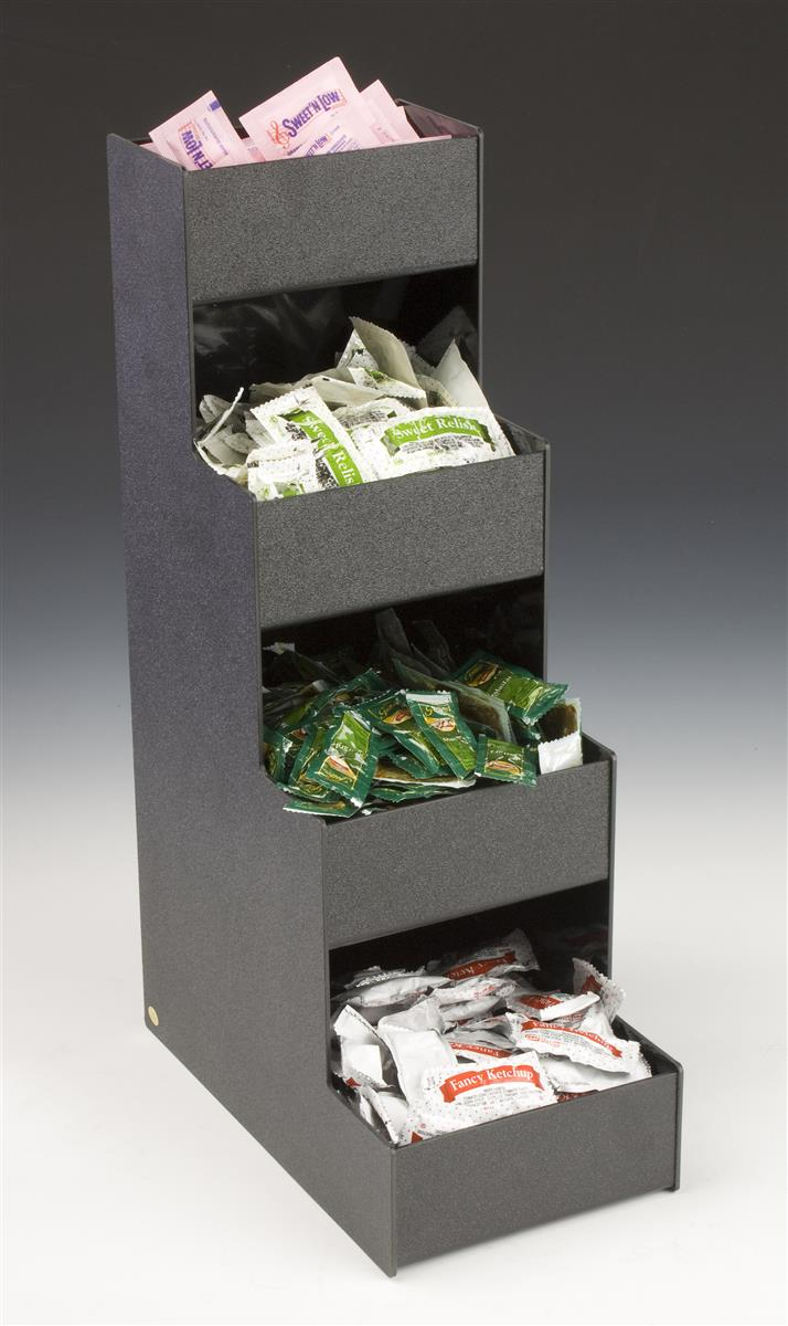 Condiment Packet Organizer Tiered Stand With Four