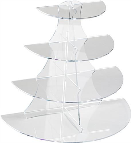 4 Shelf Acrylic Stand 1 2 Round Display With Tapered Tiers