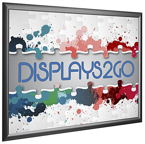 Black 27 x 40 Poster Frame, Hanging Sign Holder Fits Any ...