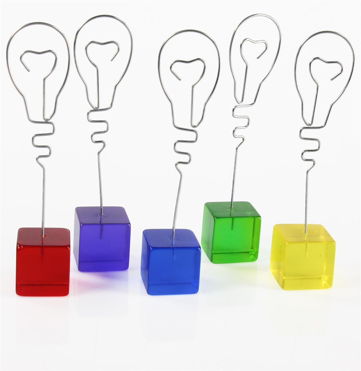 Displays2go Place Card Holders with Cube Bases, Lightbulb...