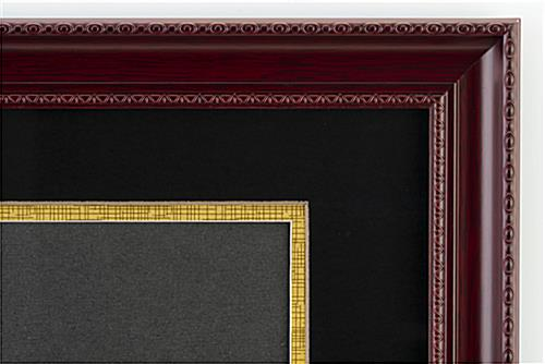 dual diploma frame with decorative boarder