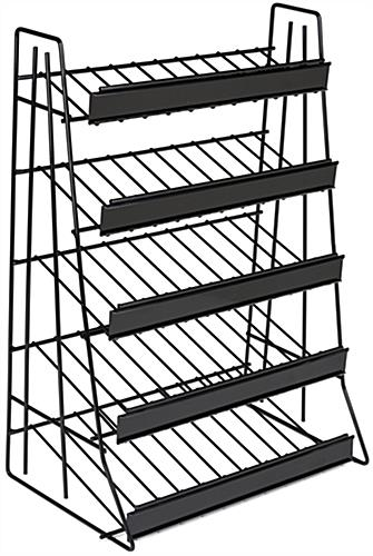 Black 5 Tier Wire Countertop Rack