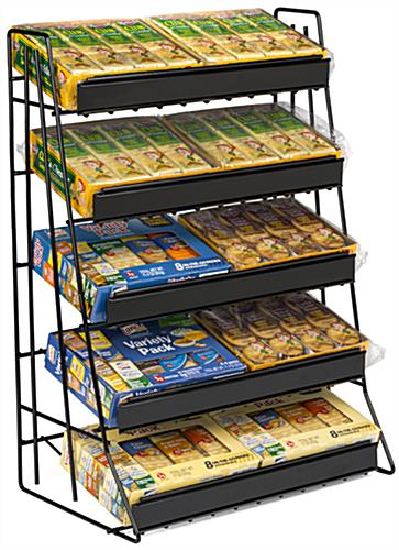 5 Tier Wire Countertop Rack With Welded Sign Channel