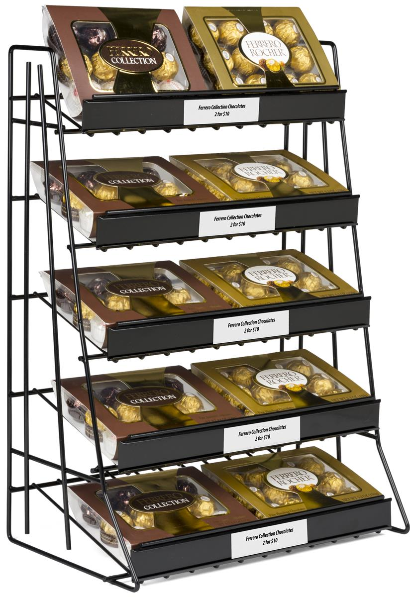 red wire product white designs display rack w shelves snack air