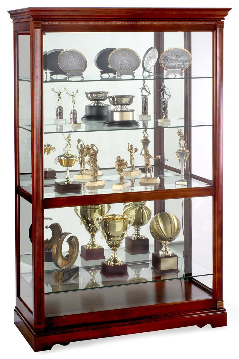 display cabinets townsend model windsor cherry finish. Black Bedroom Furniture Sets. Home Design Ideas