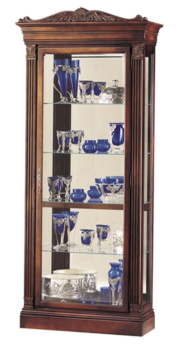Glass Display Cabinets Embassy Model Cherry Finish