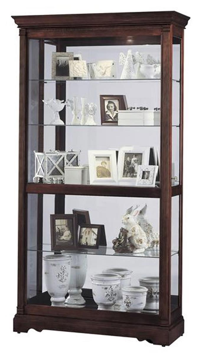 Wood Curio Cabinets Dublin Model Windsor Cherry Finish