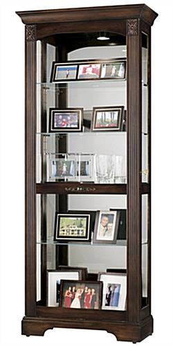 glass curio cabinet ricardo model hampton cherry finish. Black Bedroom Furniture Sets. Home Design Ideas