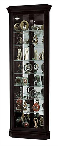 Exceptional Black Corner Curio Cabinet
