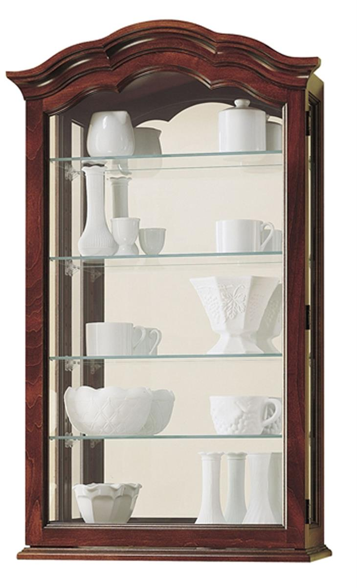 wall curio cabinet curio wall cabinet vancouver model cherry finish 28051