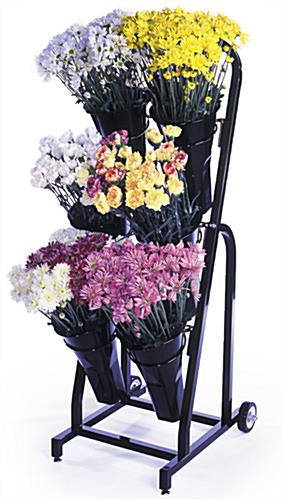 Floral Display Rack with 3 Tiers