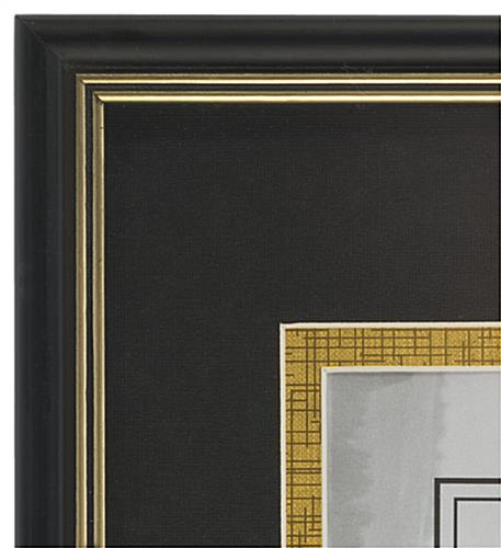 Double Matted Diploma Frame has Gold Trim