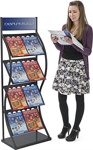 Double Wide Pop Up Magazine Rack