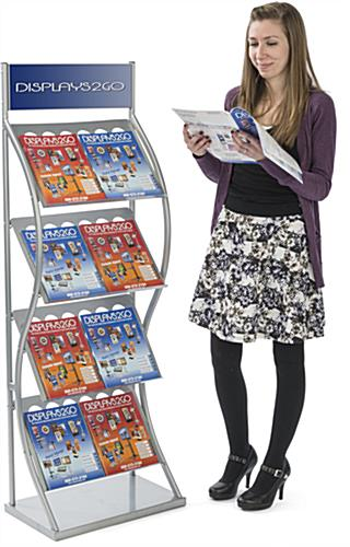Double Wide Pop Up Literature Stand